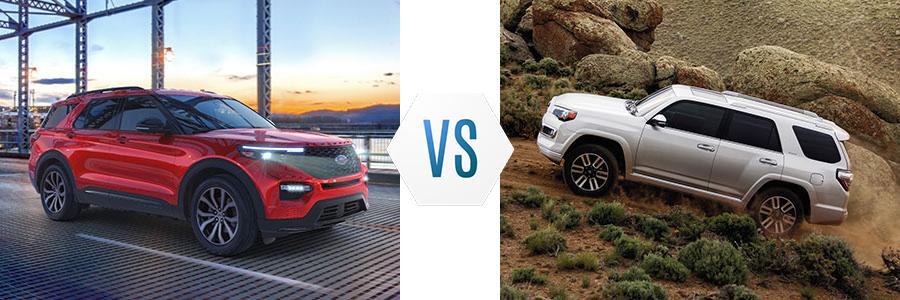 2020 Ford Explorer vs Toyota 4Runner