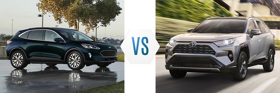 2021 Ford Escape Hybrid vs Toyota RAV4 Hybrid