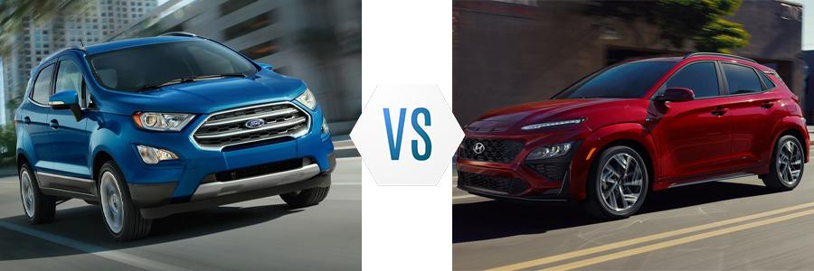 2021 Ford EcoSport vs Hyundai Kona
