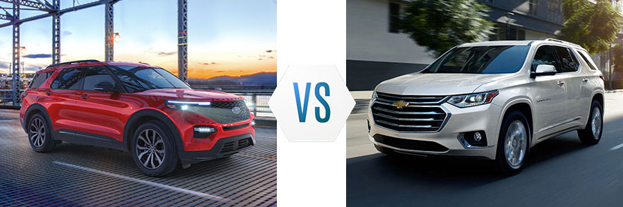 2020 Ford Explorer vs Chevrolet Traverse
