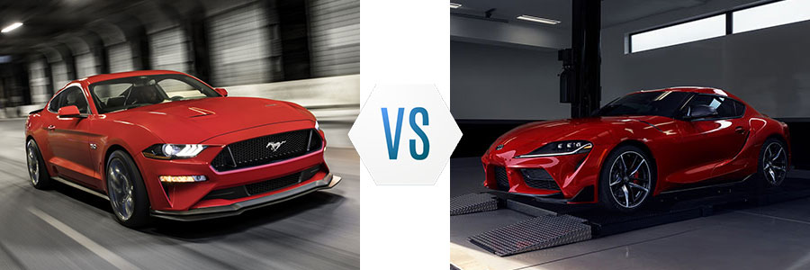 Ford Mustang vs Toyota GR Supra