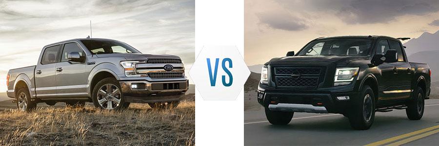 2020 Ford F-150 vs Nissan Titan