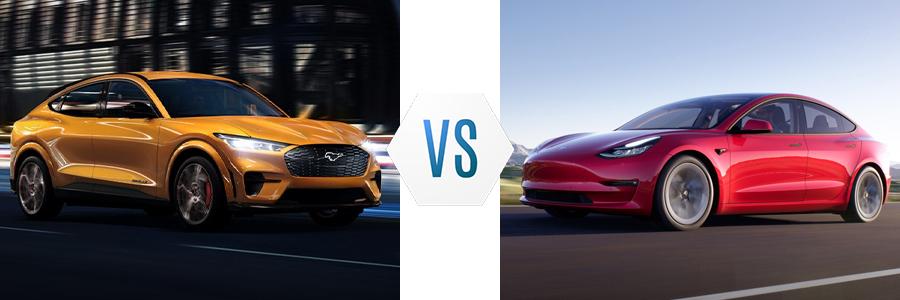 2021 Ford Mustang Mach-E vs Tesla Model 3