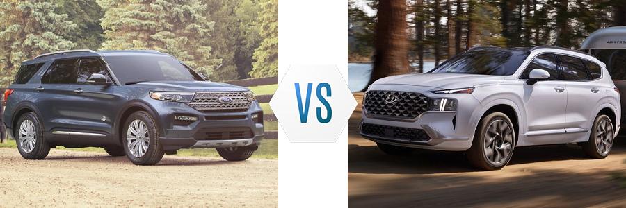 2021 Ford Explorer vs Hyundai Santa Fe