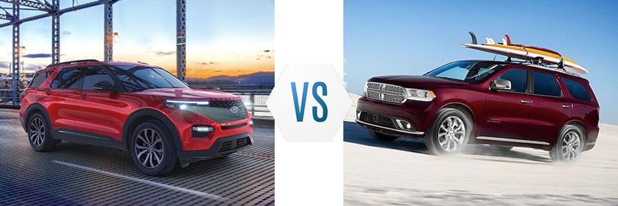 2020 Ford Explorer vs Dodge Durango