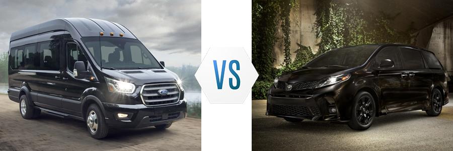 2020 Ford Transit Passenger Wagon vs Toyota Sienna