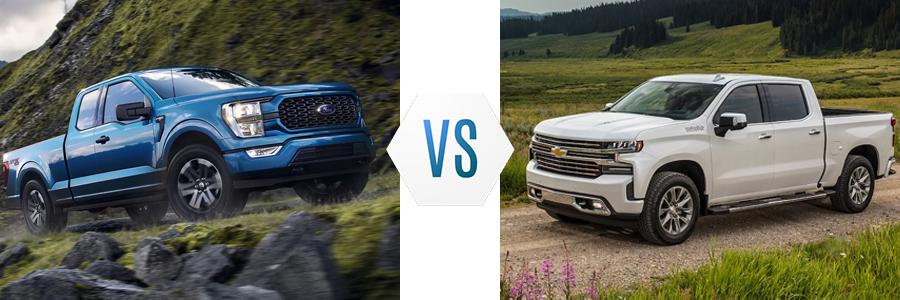 2021 Ford F-150 vs Chevrolet Silverado 1500