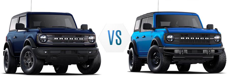 2021 Ford Bronco Big Bend vs Black Diamond