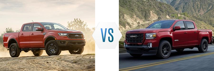 2021 Ford Ranger vs GMC Canyon